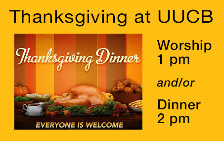 Thanksgiving at UUCB