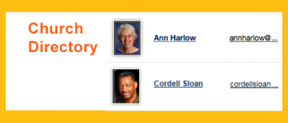 Create Your Profile in the Church Directory